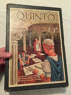 VINTAGE 1964 3M Games QUINTO Bookcase Board Game