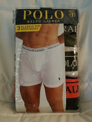 bfa35c75628f POLO Ralph Lauren Men's MEDIUM Boxer Briefs Multi Color W/Wicking Retail:  $39.50
