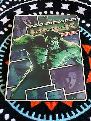 The Incredible Hulk Steelbook (Blu-ray/DVD, 2013, 2-Discs) W/ Digital HD- Read!!