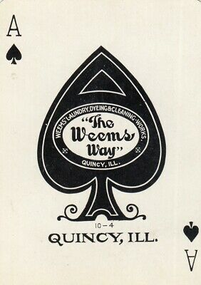 ACE of SPADES - The WEEMS WAY - 1 wide single vintage playing cards !