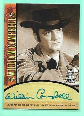 William Campbell The Wild Wild West Autograph Card Bender Rittenhouse Signed A13