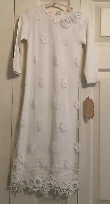 93a7ea92dea7e Baby Biscotti~KateMack Girl's Christening/Baptism Gown with Lace Size 3-6  months