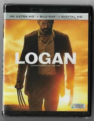 New Sealed 4K Ultra HD + Blu-Ray - Digital - LOGAN - No Slip Cover  Also French