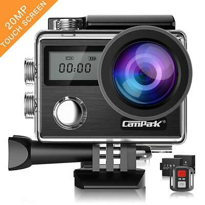 Campark Action Cam X20 HD 20MP 4K WiFi Touch Screen Macchina Black