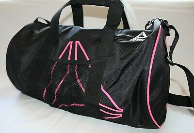 """Reebok Duffle Bag Plyo Small 9.25""""x18""""x9.5"""" black and pink,Brand New With Tags."""