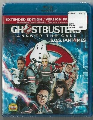 New Sealed  BLU-RAY DISC GHOSTBUSTERS ANSWER THE CALL  -  Also In French
