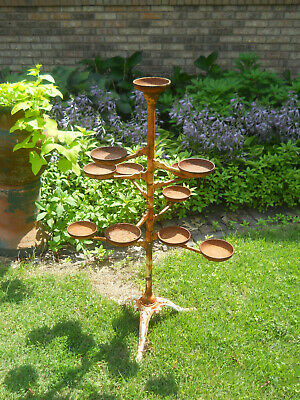 Gorgeous Antique Victorian Cast Iron Plant Stand-9 Revolving Arms-12 Cups