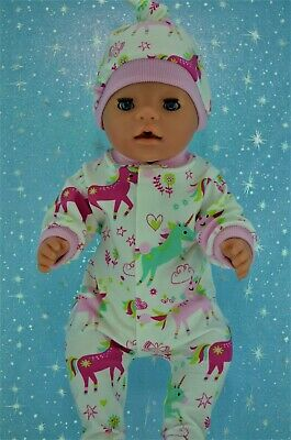 """Play n Wear Doll Clothes To Fit  17"""" Baby Born PATTERNED STRETCH AND GROW~HAT"""