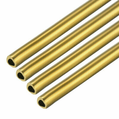 4PCS 0.5mm x 1mm x 500mm Brass Pipe Tube Round Bar Rod for RC Boat