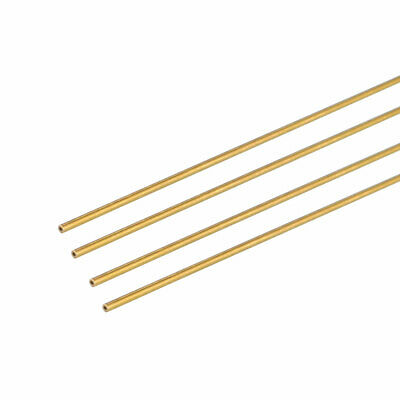 4PCS 0.2mm x 0.5mm x 500mm Brass Pipe Tube Round Bar Rod for RC Boat