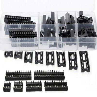 66pcs DIP IC Socket Adaptor Solder Type Socket Kits 6 8 14 16 18 20 24 28 Pin
