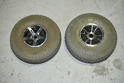 Mobility Scooter Drive Wheels & Tyres - Pair - GC