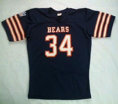 EARLY 80's RAWLINGS CHICAGO BEARS #34 WALTER PAYTON T-SHIRT JERSEY IN SIZE M.