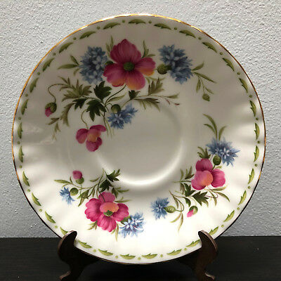 Royal Albert Flowers Of Month August Poppy Saucer Replacement