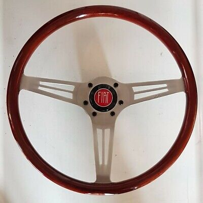 HELLEBORE Wood Sport Steering wheel FIAT + hub and horn button volante in legno