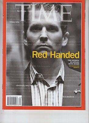 Donald Trump Jr Time Magazine July 24 2017 No Label Red Handed Russian Scandal