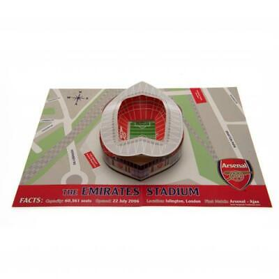Arsenal FC 3D Stadium Pop Up Happy Birthday Card Gunners With Envelope Xmas Gift