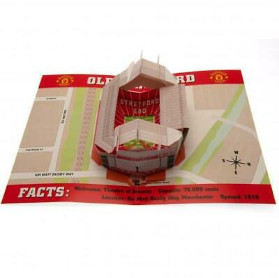 Manchester United FC 3D Stadium Pop Up Birthday Card With Envelope Gift Xmas New