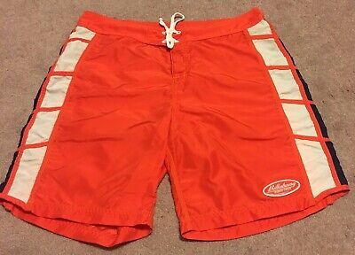 cce0a9faa5 Billabong Vintage Orange Blue White Board Shorts Surf Swim Trunks Men's sz  40