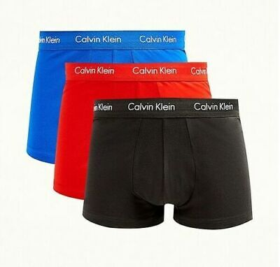 3 Pack Color Calvin Klein Men's Cotton Stretch Trunk