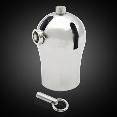 Male Luxury Chastity Stainless Steel Cage PA9000 With Titanium Plug And PA A295