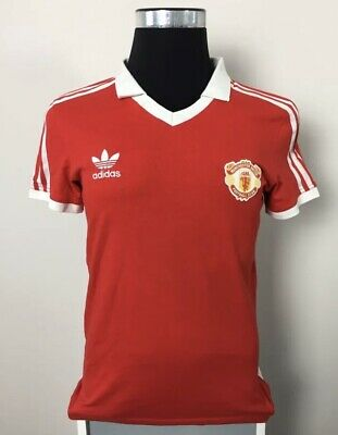 17945ae014e Adidas Originals Manchester United Home Football Shirt Jersey 1980-1982 (M)