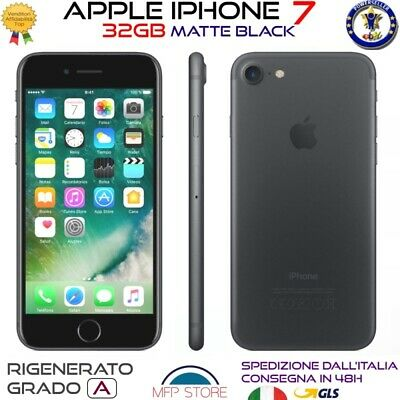 Apple Iphone 7 Nero Opaco Ricondizionato 32Gb Grado A Rigenerato Originale