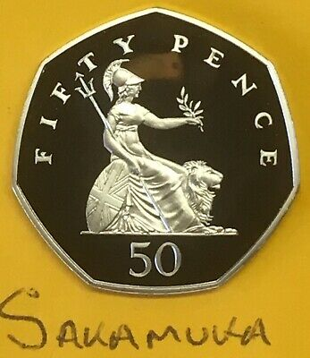 1999 50p Coin - Britannia - Royal Mint Fifty Pence - Stunning PROOF (ref.451)