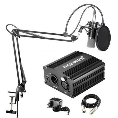 Neewer NW-700 - Microfono Professionale a condensatore kit + 48 V...
