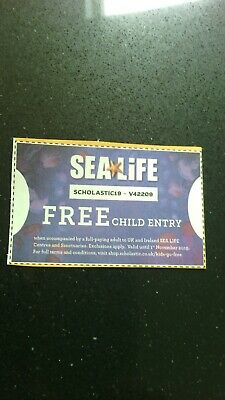 Free child entry to any UK / Ireland Sea Life Centre voucher