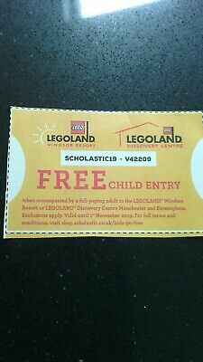 Free child entry to any Legoland Windsor or Discovery centre B'ham / Man voucher