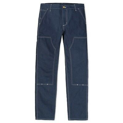 CARHARTT WIP RUCK DOUBLE KNEE PANT, CANYON, BLUE RIGID, W36in L34in