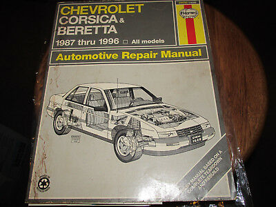 haynes service repair manual chevrolet corsica & beretta 1987-96 wiring  diagrams