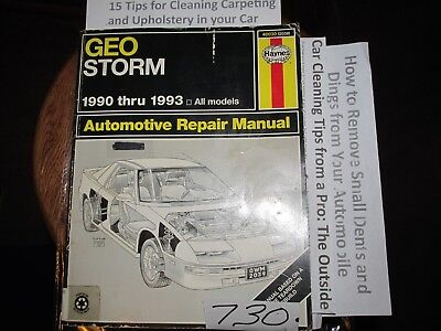 1990-1993 geo storm haynes service repair manual 40030 all models wiring  diagram