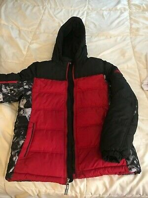 1aa7df85e ZeroXposur Boys Winter Coat YOUTH XL 18/20 NWOT Red Black Ski Jacket Warm  Hooded
