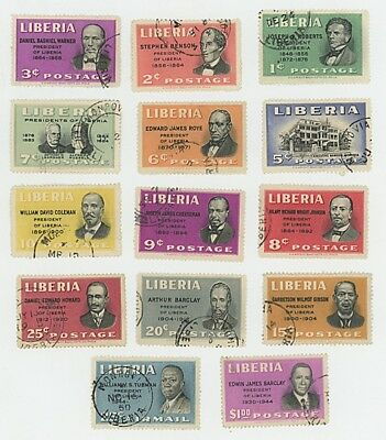 Liberia  - Presidents - Lot Of 14 - Used