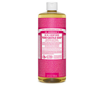 Dr. Bronner's Pure-Castile Liquid Soap Rose 946mL