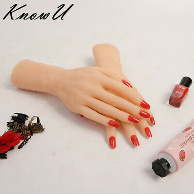 Silicone Lifelike Female Hand Model Finger Mannequin Display Jewelry Props 1PC