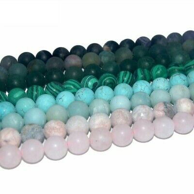 Assorted Dull Polish Matte Natural Stone Bead For Jewelry Making 4/6/8/10/12 MM