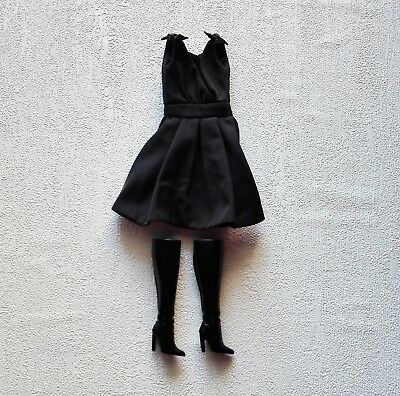 Barbie Doll Silkstone Classic Black Dress outfit only new!