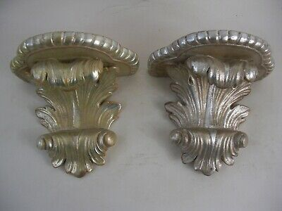 Pair of Large Acanthus Wall Bracket Shelves in a Victorian or Rococo Style