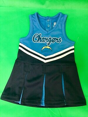 B.11 NFL Los Angeles Chargers BABY cheerleader dress 12 months ADORABLE!