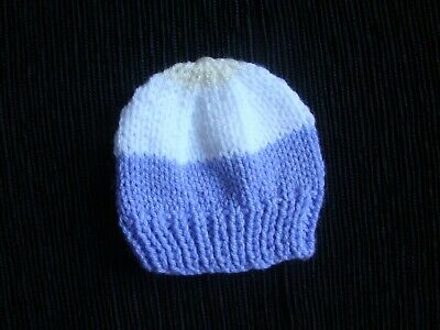 Baby clothes GIRL premature/tiny<7.5lbs/3.4kg NEW!white/mauve/creamknit soft hat