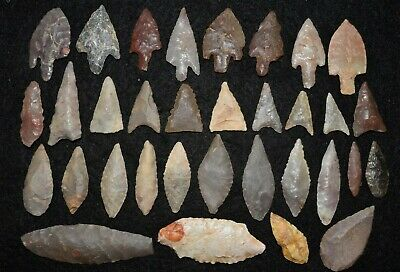 33 common diverse Sahara Neolithic points/tools