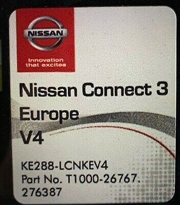 GENUINE NISSAN SD Card Update Connect 3 Version 4 Europe Latest