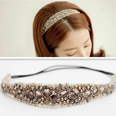 Sweet Women Girls Lace Hairband Rhinestone Crystal Headband Head Piece HOT Hot