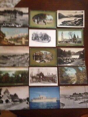 postcard album With 200 Very Old Topographical postcards Postally Used & Unused