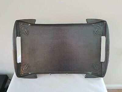 Antique art and crafts Arcihibald Knox Tudric Pewter Serving Tray By Liberty
