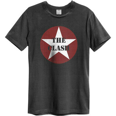 Amplified Shirt The Clash Star Logo unisex charcoal