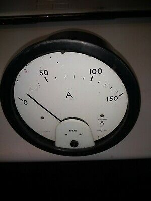Large Amp Meter Ex Military A&M 1966 GEC 0/150 AMPS 7 INCH Steam Punk